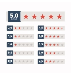Star rating badges vector