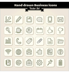 Hand drawn business icons vector