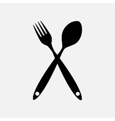 Background with Forks Spoons vector image vector image