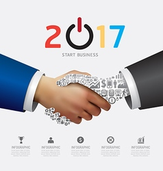 Business 2017 handshake success concept vector