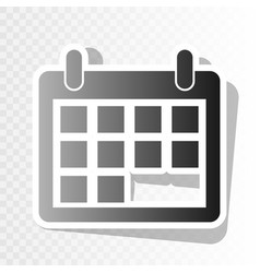 Calendar sign new year vector