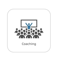 Coaching icon business concept vector
