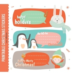 Collection of Cute Journaling Cards vector image