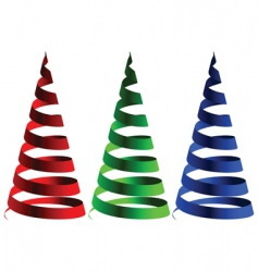 cone ribbons vector image