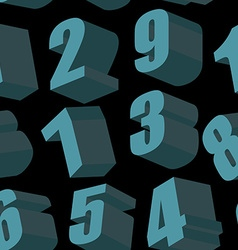 Digits on black background seamless pattern vector image