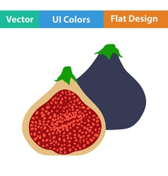 Flat design icon of fig fruit vector