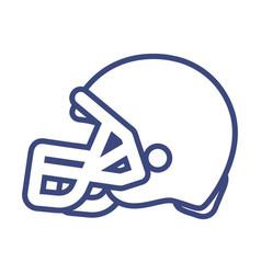 football helmet design vector image