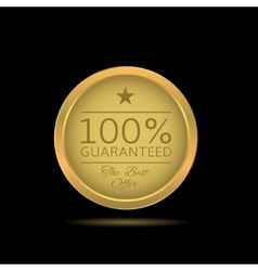 Golden Guaranteed label vector image vector image