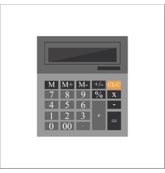 gray calculator with figures on a white vector image vector image