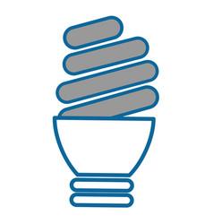 Isolated light bulb vector