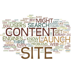 Launch your site before it is finished text vector