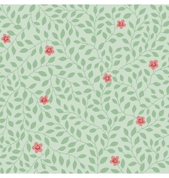 leaves pattern flowers vector image vector image