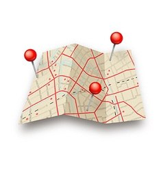 Map with pins vector