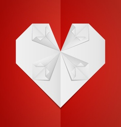 Origami-Heart vector image vector image