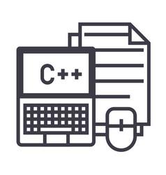 programmingcodingnotebook mouse docs vector image