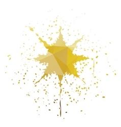 Star-shaped ink splatter vector