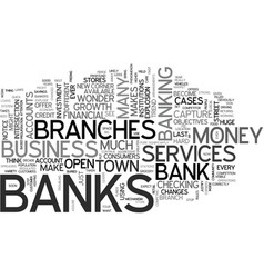 When banks explode text word cloud concept vector
