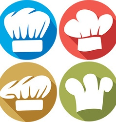 Chef Hat Icon Set vector image