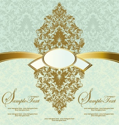 Floral vintage invitation card vector