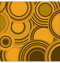 Circles yellow color abstract background vector image