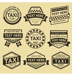 Taxi labels set vintage style vector