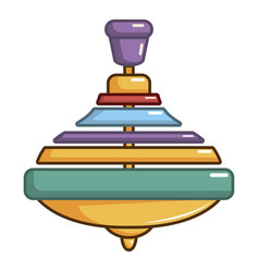Colorful spinning top icon cartoon style vector