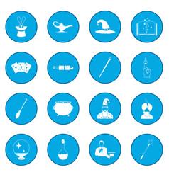 Magic icon blue vector