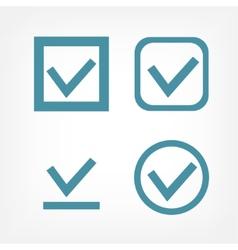 Check mark flat icons vector