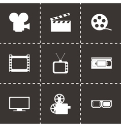 Movie icon set vector