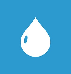 Drop icon white on the blue background vector
