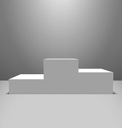 White pedestal vector image