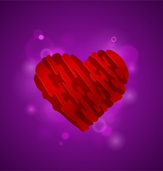 Heart on a purple background vector