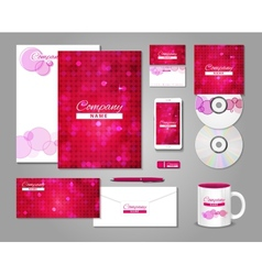 Fashionable corporate identity template design vector image
