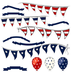 4th of july elements set vector image vector image
