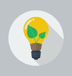 Eco flat icon green energy vector