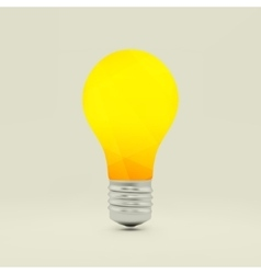 Lightbulb idea symbol 3d vector