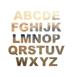 Design elements - gold 3d font set vector