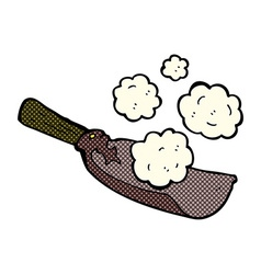 Comic cartoon coal shovel vector