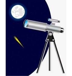 Telescope and starry sky vector