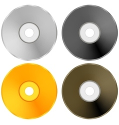 Colorful realistic compact discs isolated vector