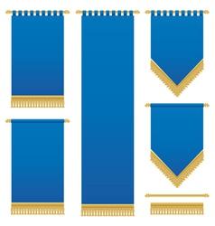 Blue wall hangings vector