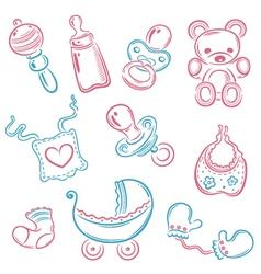 Baby children parents vector image