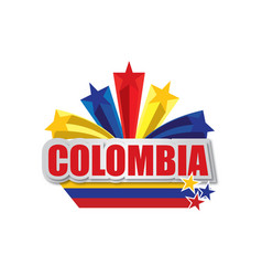 colombia design vector image