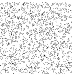 Coloring antistress with flowers vector image vector image