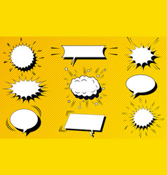 comic white blank speech clouds collection vector image vector image