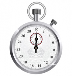 crown stopwatch vector image vector image