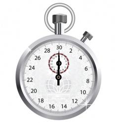 crown stopwatch vector image