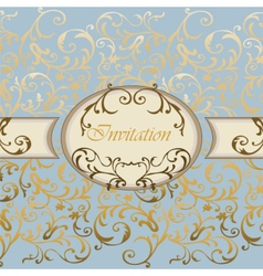 Damask invitation card with classic ornaments vector