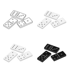 dominoes for playing in the casino gambling for vector image