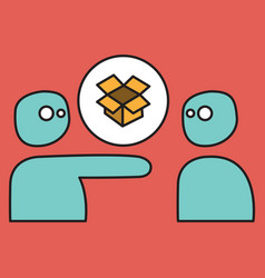 dropbox color icon realistic icon or logo vector image